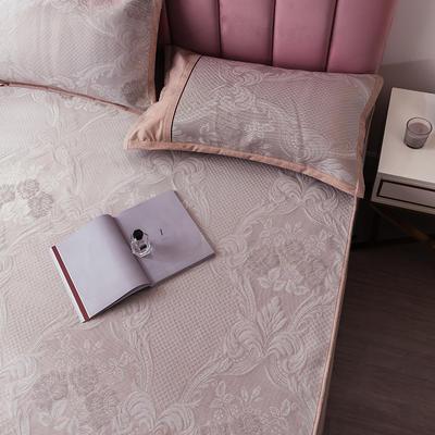 2020 提花冰絲三件套涼席空調軟涼席床笠款 冰感絲藤席 1.5m(5英尺)床 花開富貴