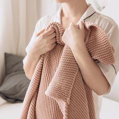 2018新品毛毯索琳(不含流苏) 130*170 脏粉