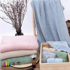 2018新款菠萝格毛巾 浴巾 蓝色(毛巾35*75)