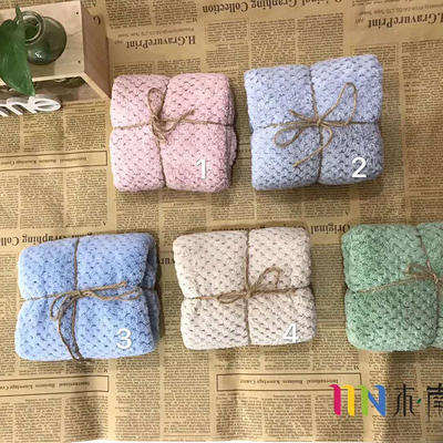 2018新款菠萝格毛巾 浴巾 绿色(毛巾35*75)