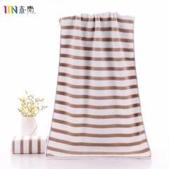 2018新款超细纤维彩条毛巾浴巾 咖色(毛巾35*75)