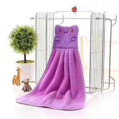 2019新款珊瑚绒擦手巾(30*30) 紫色