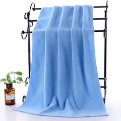 2018新款32股棉简约素色套巾 蓝色 毛巾34*74cm