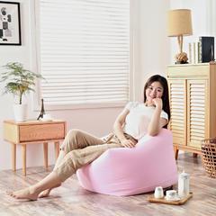 2019新品软方懒人沙发 长55*宽55*高38 (光套子) 粉色