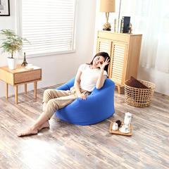 2019新品软方懒人沙发 长55*宽55*高38 (光套子) 皇家蓝
