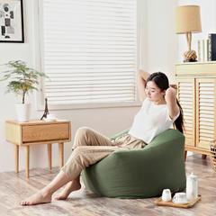 2019新品软方懒人沙发 长55*宽55*高38 (光套子) 军绿