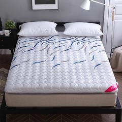 2018新款寐珂针织双面床垫 0.9*1.9m 蓝色海洋(厚度10cm)