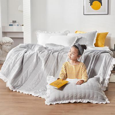 2020新款韩式公主风多功能床盖夏被三件套 200X230cm三件套 高雅灰