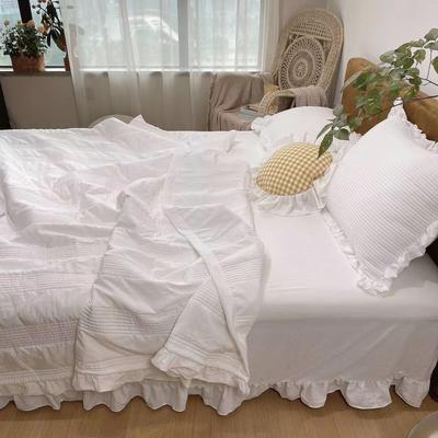 2020新款Elizabeth出口韩国款雪纺纱夏被三件套 180x210cm(夏被三件套) Elizabeth白