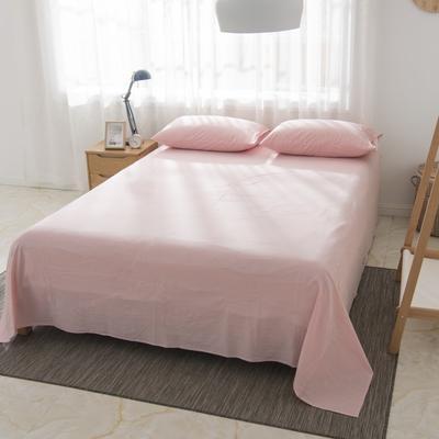 2019新品-全棉色织水洗棉床单 160*240 粉色