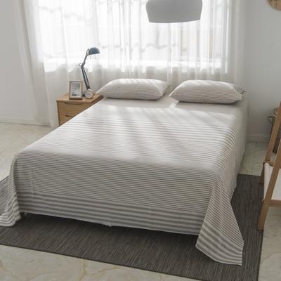 2019新品-全棉色织水洗棉床单 160*240 咖啡灰
