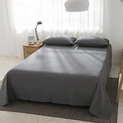 2019新品-全棉色织水洗棉床单 160*240 深灰