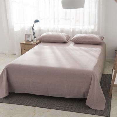 2019新品-全棉色织水洗棉床单 160*240 咖色