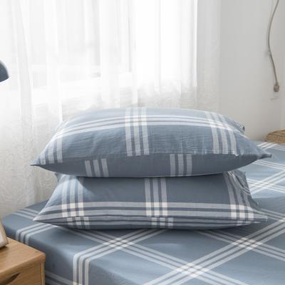 2019新品-全棉色织水洗棉枕套 48cmx74cm / 一只 新元素
