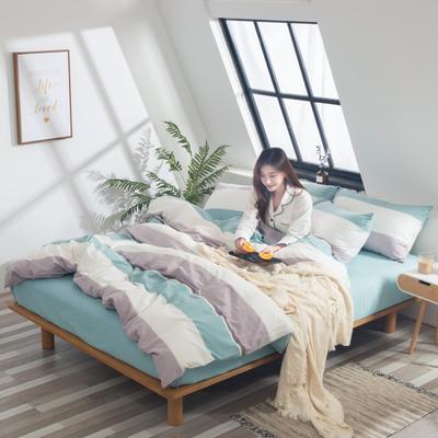 2019新品-全棉色织水洗棉被套 150*200 莞尔