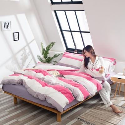 2019新品-全棉色织水洗棉被套 150*200 红妆