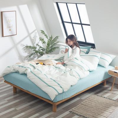2019新品-全棉色织水洗棉被套 150*200 兰木