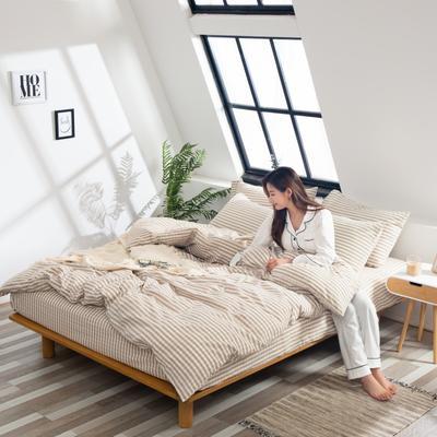 2019新品-全棉色织水洗棉被套 150*200 时光
