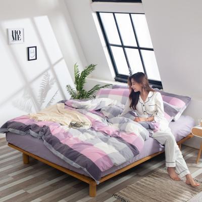 2019新品-全棉色织水洗棉被套 150*200 时空