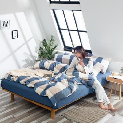 2019新品-全棉色织水洗棉被套 150*200 馨兰
