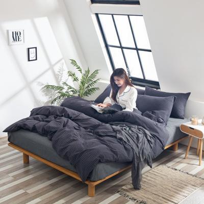 2019新品-全棉色织水洗棉被套 150*200 子墨