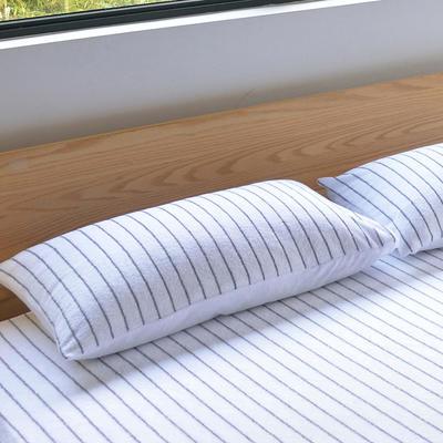 2019新款全棉毛巾系列单枕套 48cmX74cm/对 白色