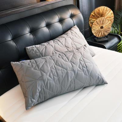 2020新款海洋之心夾棉單枕套 48cmX74cm/對 燦灰