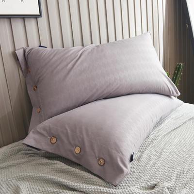 2020新款维也纳磨毛系列单枕套 48cmX74cm/对 莱苼家纺