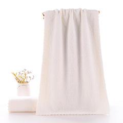 2019新款高密珊瑚绒毛巾(34*74) 米白