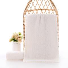 2019新款高密珊瑚绒童巾(35*50) 米白