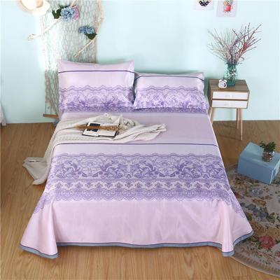 2019新款茗婷可水洗机洗冰丝席冰丝凉席床裙三件套 1.8*2.0m 莱卡风尚紫