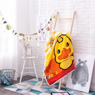 2019茗婷羊羔绒儿童毯 100*140cm 大黄鸭
