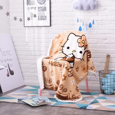 2019茗婷羊羔绒儿童毯 100*140cm 棕KT