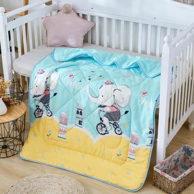 2019新款柔肤棉卡通儿童夏被 跑量款夏凉被,空调被 110x150cm 大象马戏团