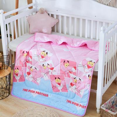 2019新款柔肤棉卡通儿童夏被 跑量款夏凉被,空调被 110x150cm 粉色小豹子