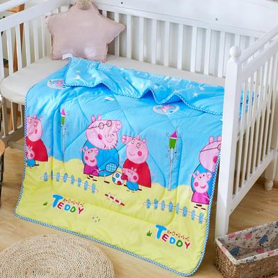 2019新款柔肤棉卡通儿童夏被 跑量款夏凉被,空调被 110x150cm 小小猪蓝