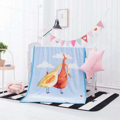 2019新款爆款双层定位儿童毯 100*140cm 时髦鸟