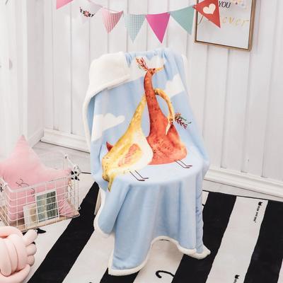 2019新款爆款羊羔絨兒童毯 100*140cm 時髦鳥