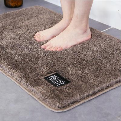 卫生间地垫门垫加厚吸水浴室防滑垫地毯卧室进门门口脚垫家用垫子 40*60cm 咖色