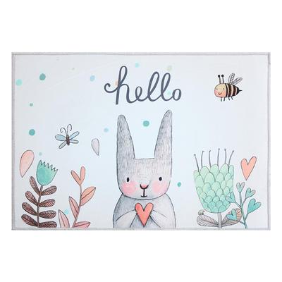 慢说/进门地垫 北欧ins风门厅入户蹭脚垫卫生间防滑垫可爱兔子图 40*60cm 小兔