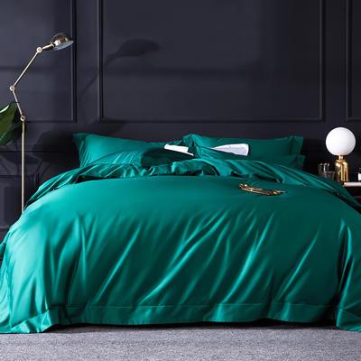 2019新品100支纯色四件套 2.0m(6.6英尺)床 翡翠绿