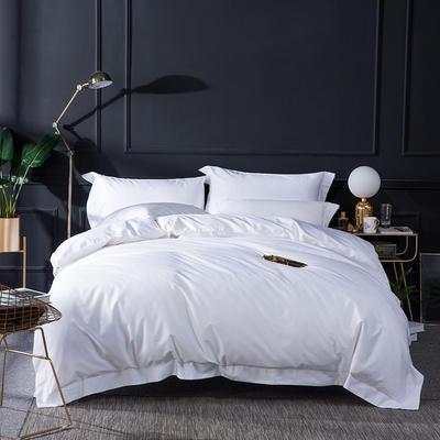 2019新品100支纯色四件套 1.8m(6英尺)床 高端白