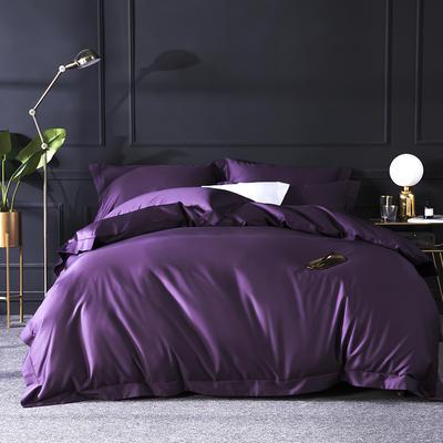 2019新品100支纯色四件套 1.8m(6英尺)床 高贵紫