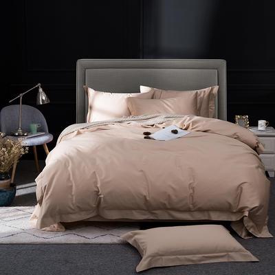 2019新品100支纯色四件套 2.0m(6.6英尺)床 琥珀色