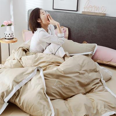 2019新品60支长绒棉四件套(模特图) 1.8m(6英尺)床 经典驼