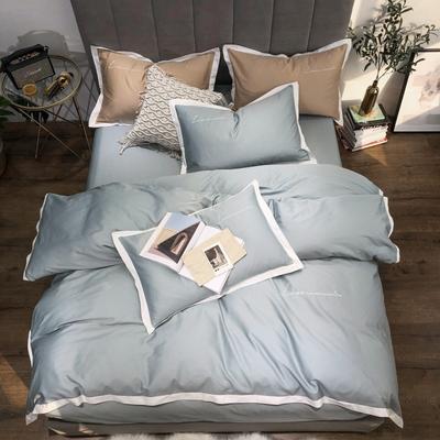 2019新品60支长绒棉四件套(实拍图) 1.8m(6英尺)床 灰绿