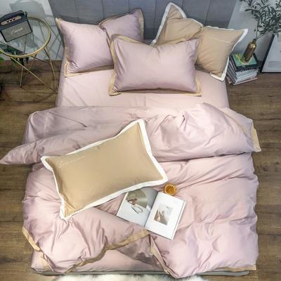 2019新品60支长绒棉四件套(实拍图) 1.8m(6英尺)床 烟粉色