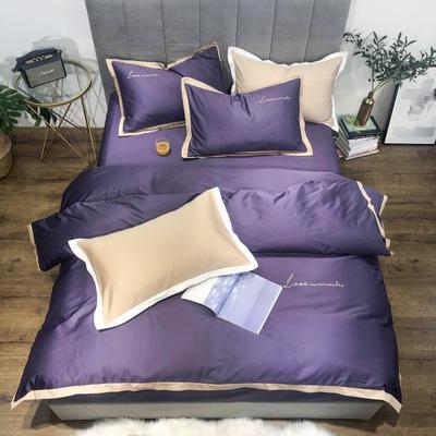 2019新品60支长绒棉四件套(实拍图) 1.8m(6英尺)床 芭莎紫