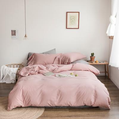 2019新款-全棉超柔鱼尾水洗棉四件套(实拍图) 床单款1.8m(6英尺)床 鱼尾-皮粉