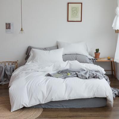 2019新款-全棉超柔鱼尾水洗棉四件套(实拍图) 床单款1.8m(6英尺)床 鱼尾-仙女白